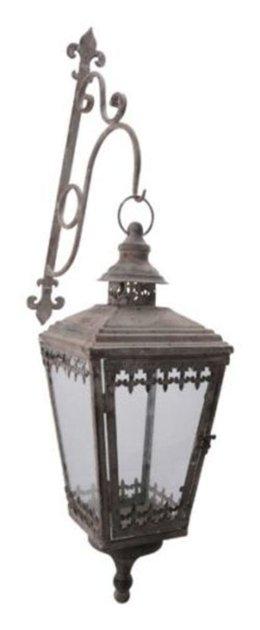 XL Laterne Stand Windlicht Orient Metall Garten Deko Antik Grau Vintage