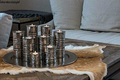 XL großes Teelicht Halter Set Kerzen Tablett Ø 43 cm mit 8 Teelichter