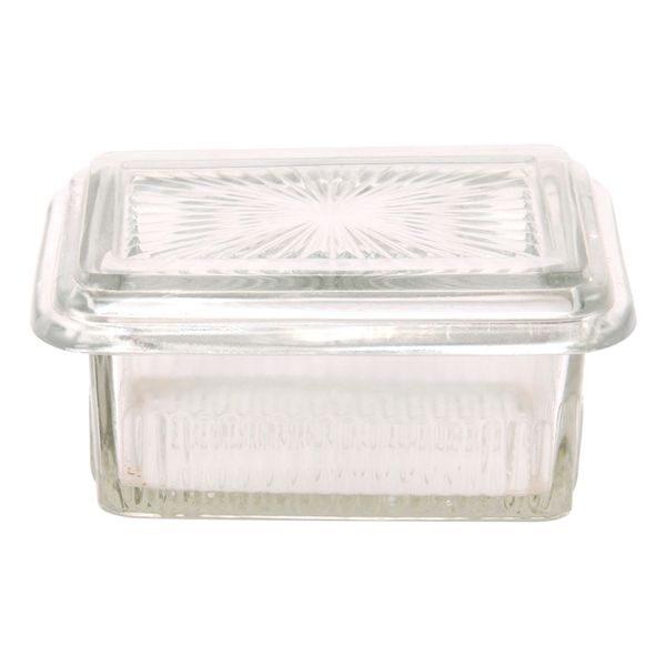 Butterdose Butterglocke Deckeldose Mediterranes Flair Glas für 250Gr. Butter