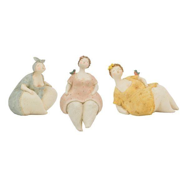 Mollige Kurvige Frau Lady Criva Dame Büste Rubens Deko-Skulptur Poly 3 Formen