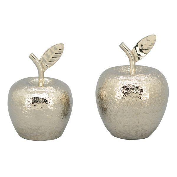 "Abstrakte Skulptur "" Apfel "" Moderne Kunst Alu gehämmert Apfel 2 Größen"