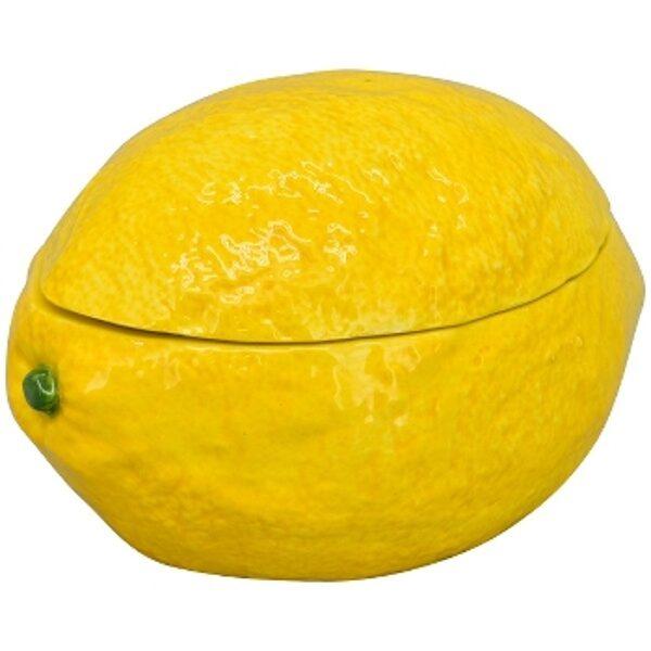 Zitrone Frischhaltebox Vorratsdose Vorratsbox Keramik gelb Box Lemon Container