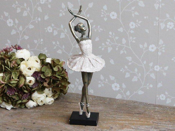 """Chic Antique Deko Ballerina """" tanzend """" Shabby Vintage Nostalgie altrosa H 41 cm"""