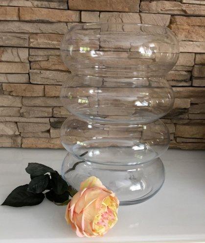 """Glas Deko Vase """" Baumkuchenform """" Akzente in Luxus Klarglas D 19 cm H 24 cm"""