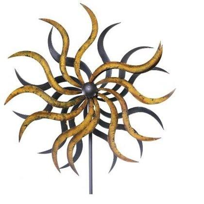 XL Windrad Art Ferro Sonne Metall Windspiel Gartenstecker  2 Größen