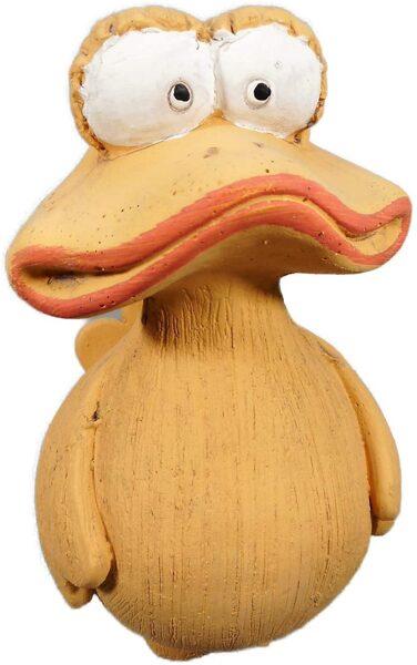 Freche Breitmaul Ente als moderne Gartenfigur als Steinfigur aus Beton Steinguss Figur