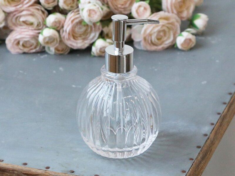 Chic Antique Seifenspender Seifenpumpe Lotionsspender Pumpspender m. Rillen Glas