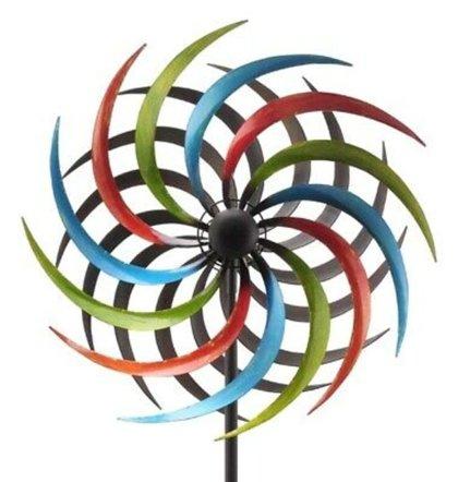 Windrad Art Ferro Sonne Metall Windspiel Gartenstecker 2 Größen