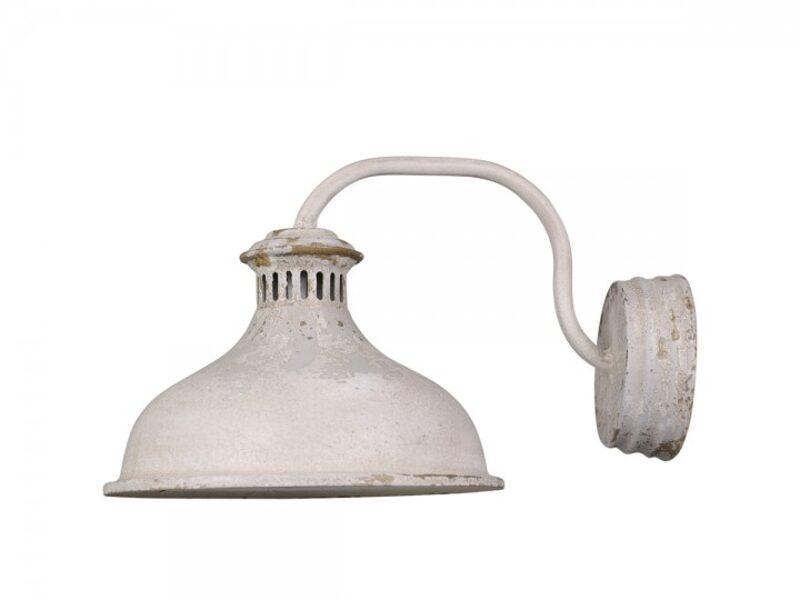Chic Antique Wandlampe Industrie-Design shabby Antik Weiss / Creme