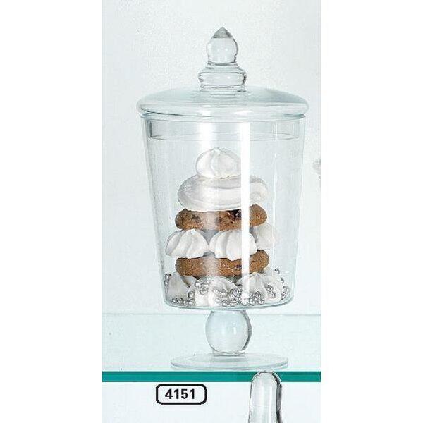 XL Plätzchendose Bonboniere auf Fuss Vorratsglas Glasdose Keksdose H 22cm
