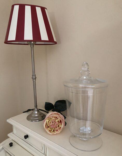 XXL Plätzchendose Bonboniere auf Fuss Vorratsglas Glasdose Keksdose H 30cm
