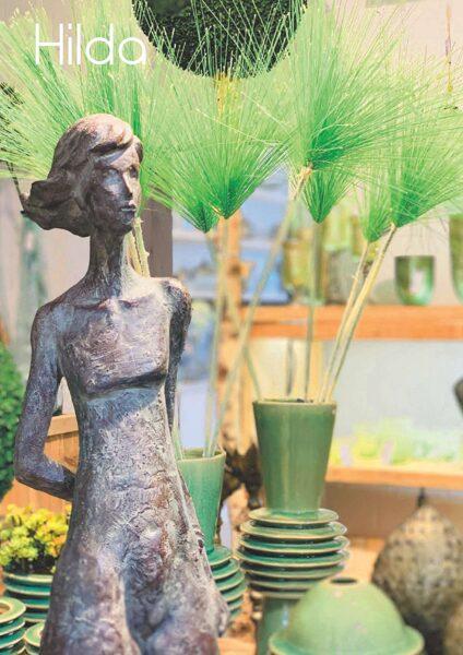 XL Abstrakte Skulptur Frau Hilda Moderne Kunst Dunkle Bronze H 81 cm