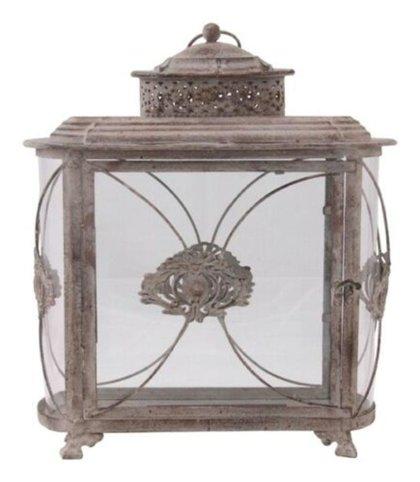 Laterne Stand Windlicht Orient Metall Garten Deko Antik Grau Vintage