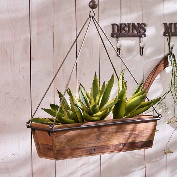 Holzkiste Deko Box zum Aufhängen Vintage Shabby Aufbewahrungskorb Garten Küche