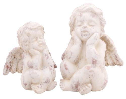Engel Skulptur Schutzengel Grabschmuck Grabengel Trauerengel Garten Shabby