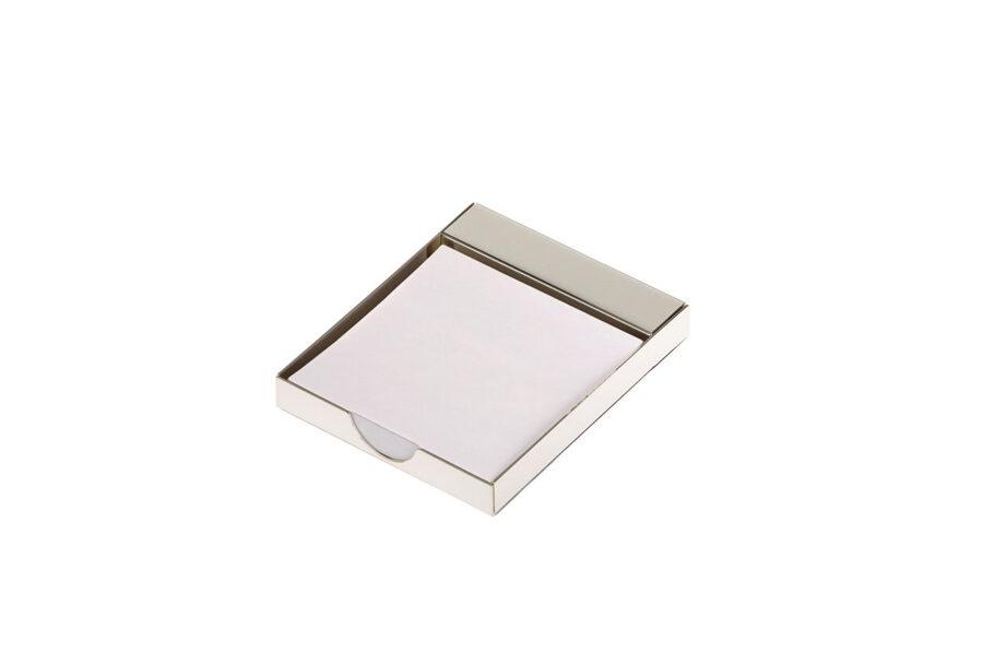 Notizblatthalter glatt poliert versilbert Anlaufgeschützt Notes Spender Schreibtisch Accessoire Organisator