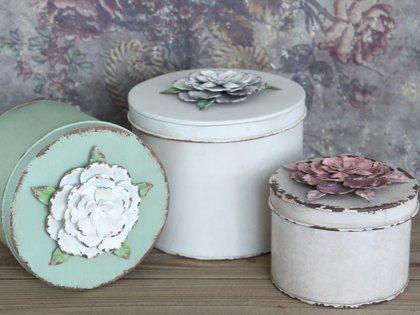 Aufbewahrung Box mit Rosen Deckel von Chic Antique Shabby Vintage