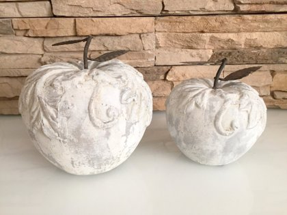 "Abstrakte Skulptur "" Apfel "" Moderne Kunst Keramik"