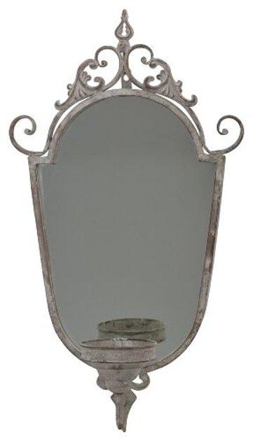 Wandkerzenhalter ohne Spiegel Kerzenleuchter Frz. Landhausstil Metall Vintage H 65 cm