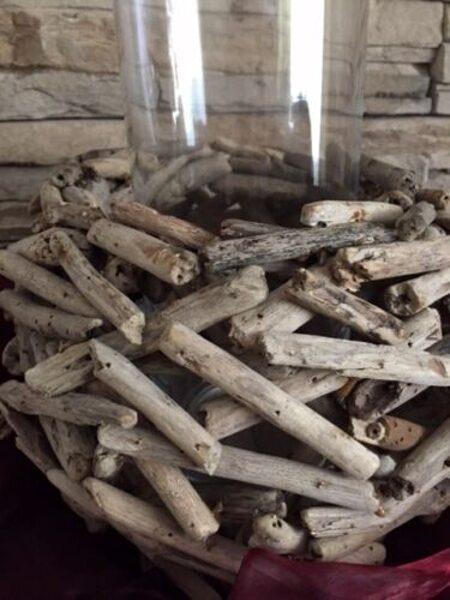 Windlicht Driftholz WMG naturbelassenes Driftholz ohne Glaszylinder