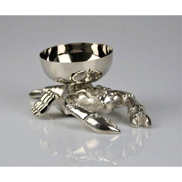 Aluminium Schale Lobster Hummer Nussschale Konfektschale L 22cm